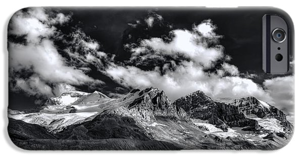 Snowy iPhone Cases - Columbia Icefield iPhone Case by Wayne Sherriff