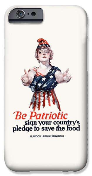Ww1 iPhone Cases - Columbia Invites You To Save Food iPhone Case by War Is Hell Store