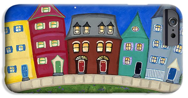 City. Boston iPhone Cases - Columbia Road iPhone Case by Melissa Fassel Dunn