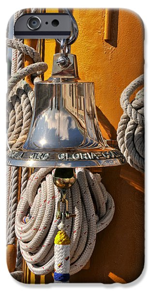 Boston Ma iPhone Cases - Columbian Navys Glorias Bell iPhone Case by Mike Martin
