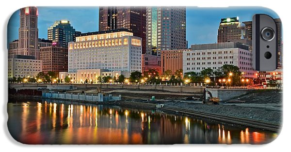 States iPhone Cases - Columbus in Vivid Color iPhone Case by Frozen in Time Fine Art Photography