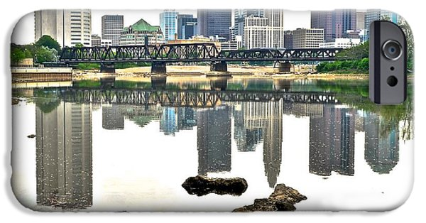 States iPhone Cases - Columbus Reflecting in the Scioto iPhone Case by Frozen in Time Fine Art Photography