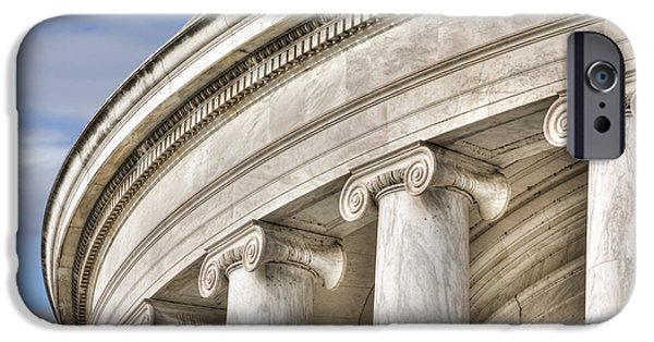 D.c. iPhone Cases - Column Close Up Jefferson Memorial iPhone Case by Jerry Fornarotto