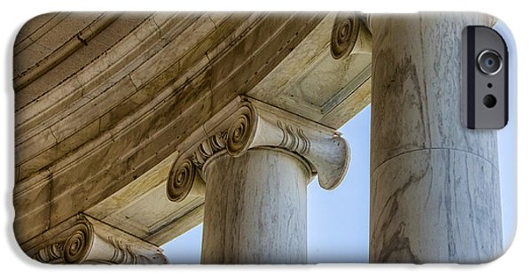 D.c. iPhone Cases - Columns Detail Jefferson Memorial iPhone Case by Jerry Fornarotto
