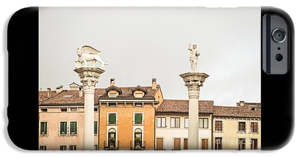 Charly iPhone Cases - Columns of Piazza Signori iPhone Case by Prints of Italy