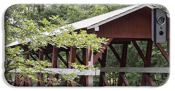 Covered Bridge iPhone Cases - Colvin Covered Bridge I iPhone Case by Marianne Campolongo