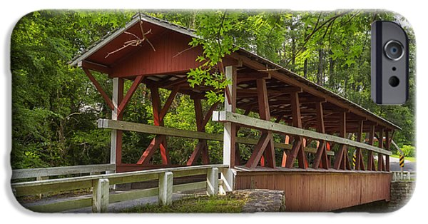Covered Bridge iPhone Cases - Colvin Covered Bridge II iPhone Case by Marianne Campolongo