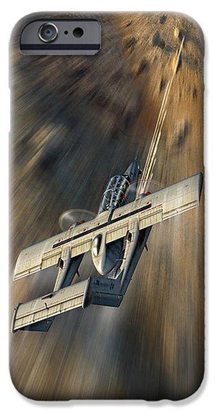 Wwi iPhone Cases - Combat Dragon II iPhone Case by Peter Van Stigt