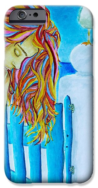 Night Angel iPhone Cases - Come back soon iPhone Case by Jose Blanco