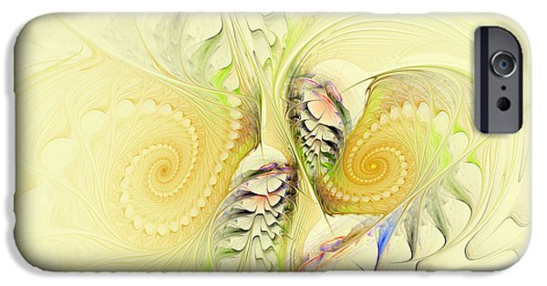 Green Surreal Geometric iPhone Cases - Come Dance With Me iPhone Case by Deborah Benoit