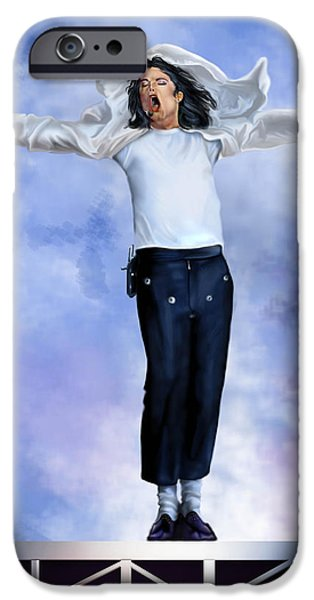 King Of Pop iPhone Cases - Come Together Over Me - MJ iPhone Case by Reggie Duffie