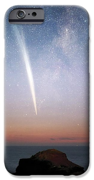 Comets iPhone Cases - Comet Lovejoy At Dawn iPhone Case by Alex Cherney, Terrastro.com