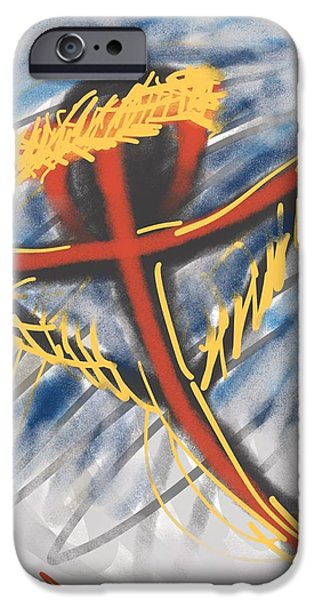 Jesus Drawings iPhone Cases - Coming Back iPhone Case by Robert Watson