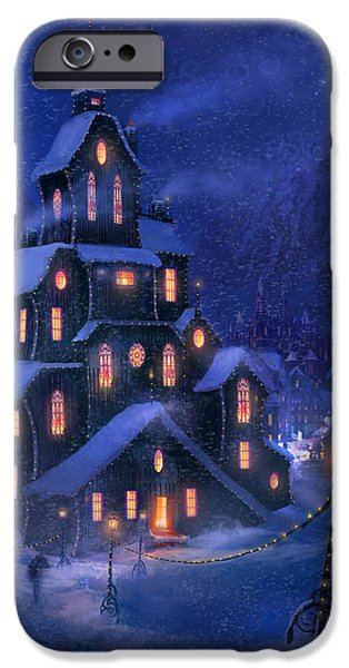 Christmas Mixed Media iPhone Cases - Coming Home iPhone Case by Philip Straub