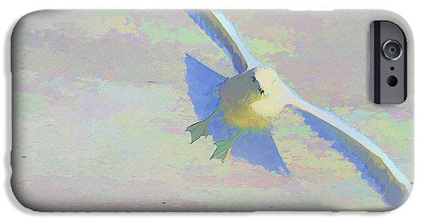 Seagull Mixed Media iPhone Cases - Coming In iPhone Case by Deborah Benoit