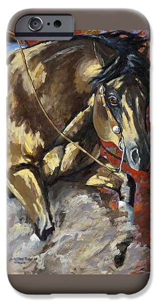 American Quarter Horse iPhone Cases - Commandalena iPhone Case by Sarrah Dibble-Camburn