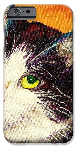 COMMISSION YOUR PETS PORTRAIT BY ARTIST CAROLE SPANDAU BFA ECOLE DES BEAUX ARTS  iPhone Case by CAROLE SPANDAU