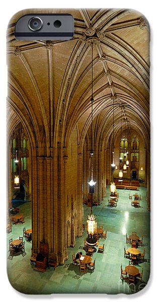 Allegheny iPhone Cases - Commons Room Cathedral of Learning - University of Pittsburgh iPhone Case by Amy Cicconi