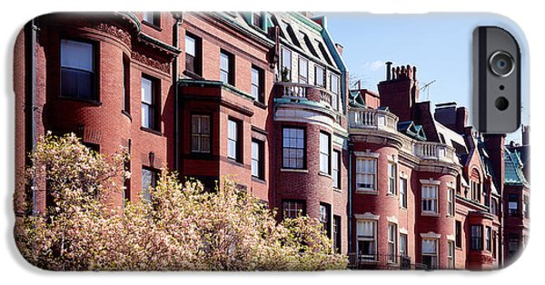 Boston Ma iPhone Cases - Commonwealth Avenue Boston Ma iPhone Case by Panoramic Images