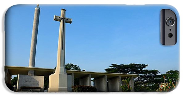 New Martyr iPhone Cases - Commonwealth War Graves Commission Kranji Memorial cemetery monument Singapore iPhone Case by Imran Ahmed
