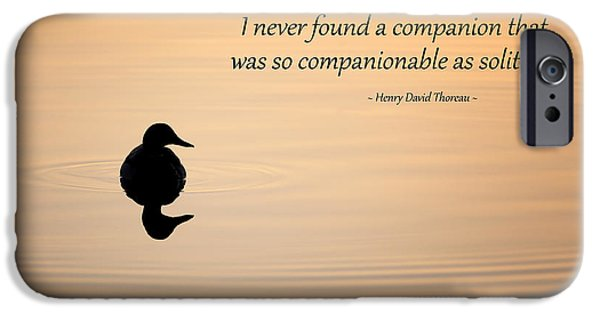 Thoreau iPhone Cases - Companion of Solitude iPhone Case by Bill Wakeley