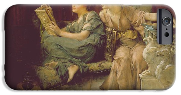 Pre-raphaelites iPhone Cases - Comparison iPhone Case by Sir Lawrence Alma-Tadema