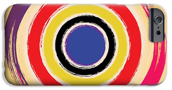 Fine Art Abstract iPhone Cases - Compass Brush iPhone Case by Gary Grayson