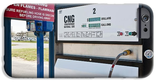 Automotive iPhone Cases - Compressed Natural Gas Pump iPhone Case by Inga Spence
