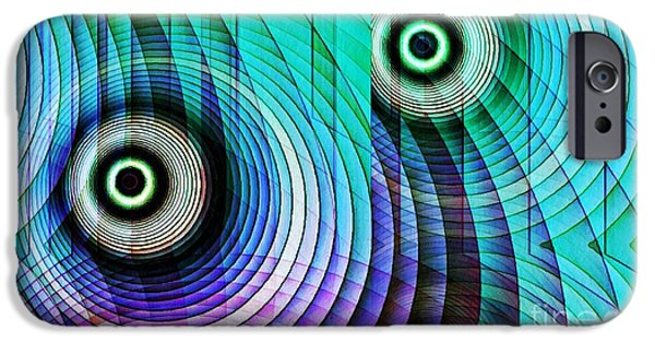 Abstract Digital iPhone Cases - Concentric Rings 4 iPhone Case by Sarah Loft