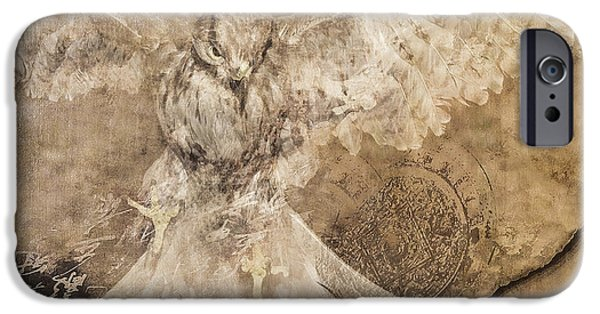 Flight Pyrography iPhone Cases - Conceptual Flight iPhone Case by Jeff Burgess