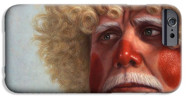 Self Portraits iPhone Cases - Concerned iPhone Case by James W Johnson