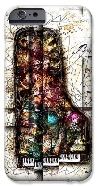Piano Digital Art iPhone Cases - Concerto II iPhone Case by Gary Bodnar