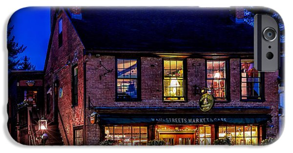 Concord Ma. iPhone Cases - Concord Market and Cafe iPhone Case by Larry  Richardson