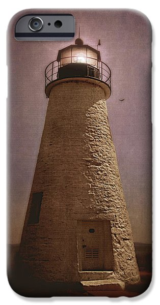 Concord Digital Art iPhone Cases - Concord Point Lighthouse  iPhone Case by Trina  Ansel
