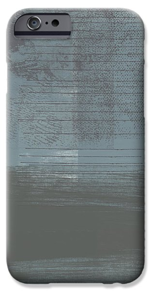 Raining Mixed Media iPhone Cases - Concrete 1- Contemporary Abstract Art by Linda Woods iPhone Case by Linda Woods