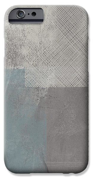 Rain Mixed Media iPhone Cases - Concrete 3- Contemporary Abstract art by Linda Woods iPhone Case by Linda Woods