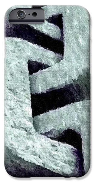 Abstract Digital Paintings iPhone Cases - Concrete Chain V B iPhone Case by Gert J Rheeders