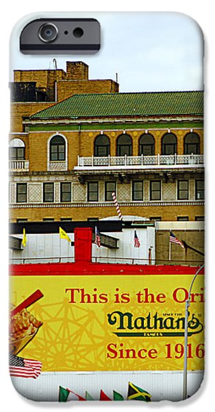 Coney Island Memories 9 iPhone Case by Madeline Ellis