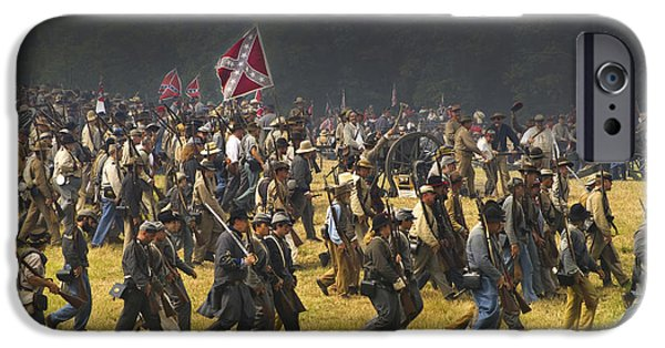 Impressions Of Light iPhone Cases - Confederate Charge at Gettysburg iPhone Case by Paul W Faust -  Impressions of Light