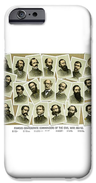 Confederate Commanders of The Civil War iPhone Case by War Is Hell Store