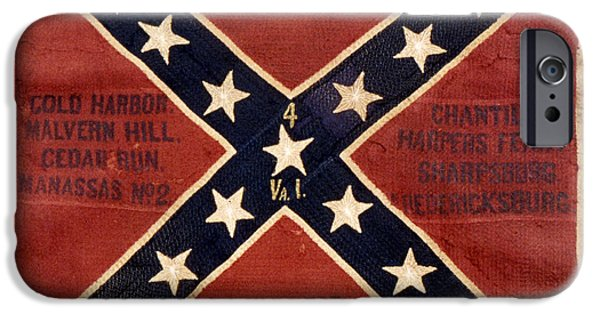 Confederate Flag iPhone Cases - Confederate Flag, 1863 iPhone Case by Granger