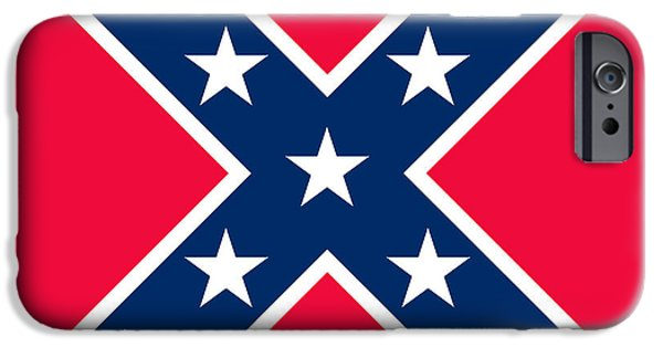 Confederacy iPhone Cases - Confederate Flag iPhone Case by American School