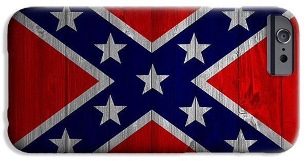 Confederate Flag iPhone Cases - Confederate Flag Barn Door iPhone Case by Dan Sproul