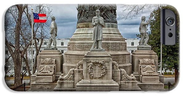 States Reliefs iPhone Cases - Confederate Memorial - Montgomery Alabama iPhone Case by Mountain Dreams