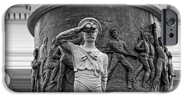 Building Reliefs iPhone Cases - Confederate Memorial Monument - Montgomery Alabama iPhone Case by Mountain Dreams