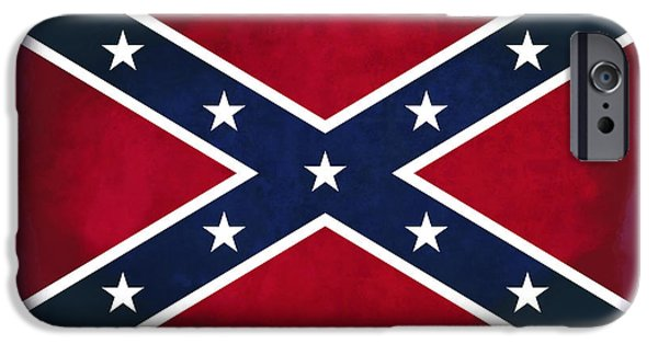 Confederate Flag iPhone Cases - Confederate Rebel Battle Flag iPhone Case by Daniel Hagerman