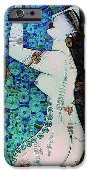 Albena iPhone Cases - Confessions In Blue iPhone Case by Albena Vatcheva