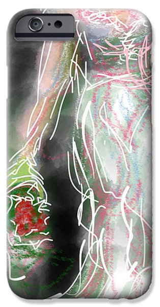 Abstract Digital Drawings iPhone Cases - Confidence iPhone Case by Robert Yaeger