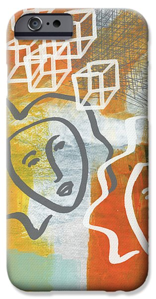 Street Mixed Media iPhone Cases - Conflicting Emotions iPhone Case by Linda Woods