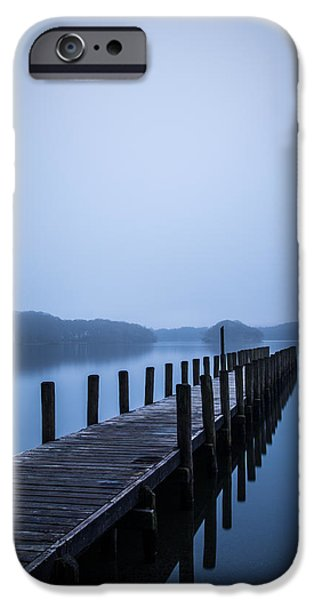 Recently Sold -  - Fog Mist iPhone Cases - Coniston Blues. iPhone Case by Daniel Kay